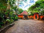 villa  pantai carport  and staff housing, incredible exotic garden ocean front oasis